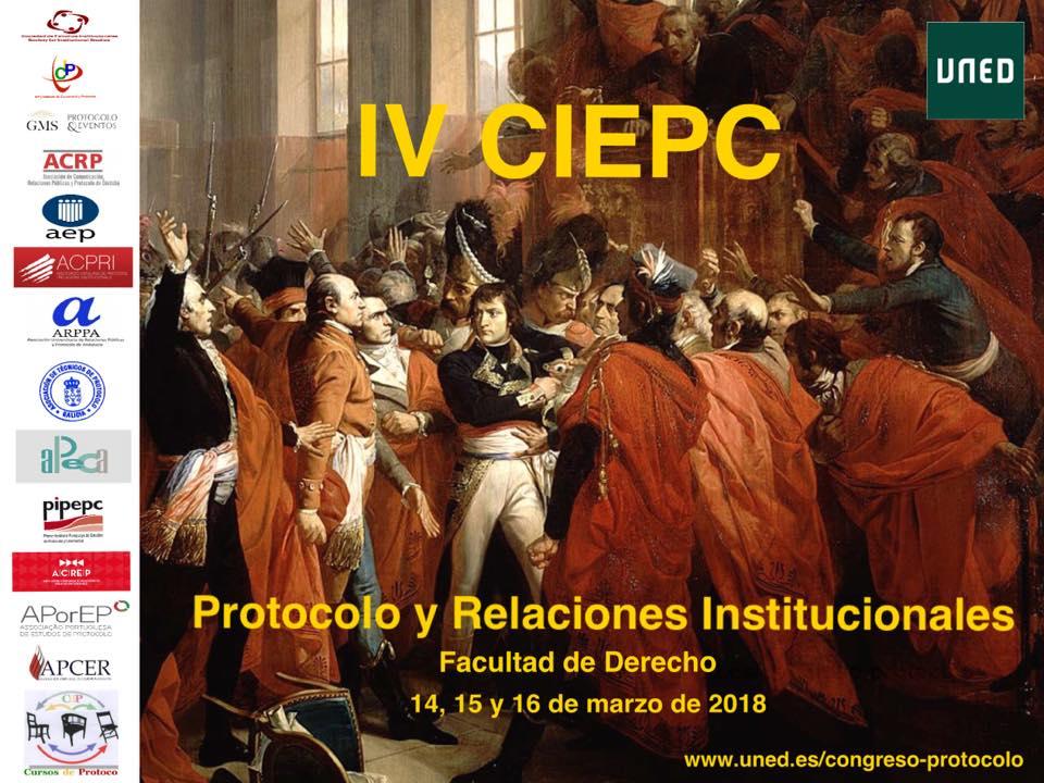IV CONGRESO INTERNACIONAL EL PROTOCOLO CONTEMPORÁNEO – UNED