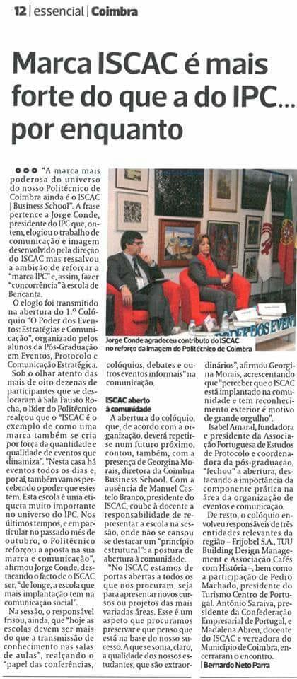 """Colóquio """"O poder dos eventos"""" na imprensa regional"""