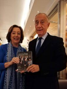 Isabel Amaral e o Presidente Marcelo Rebelo de Sousa